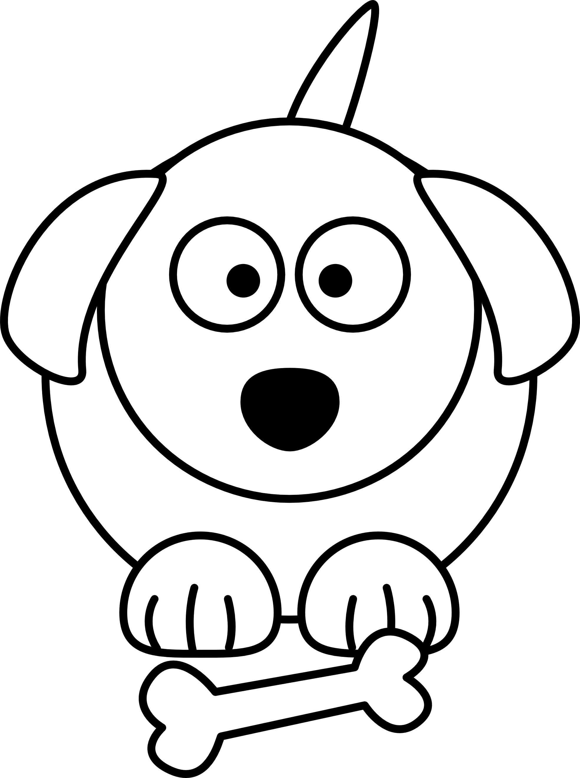 1969x2640 Cartoon White Dog