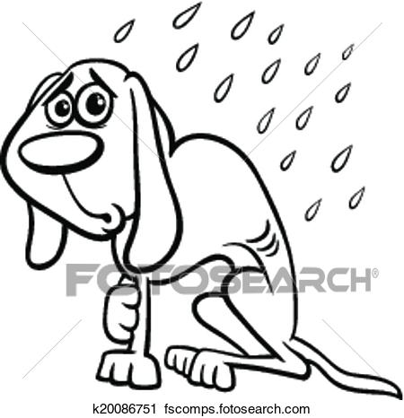 450x466 Clipart Of Homeless Dog Cartoon Coloring Page K20086751