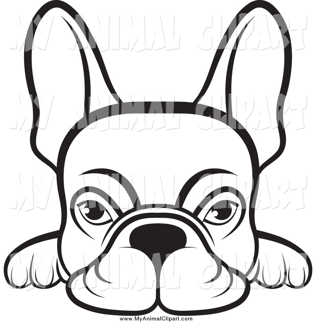 1024x1044 Clip Art Of A Lineart Frenchie Dog Looking Over A Surface By Lal