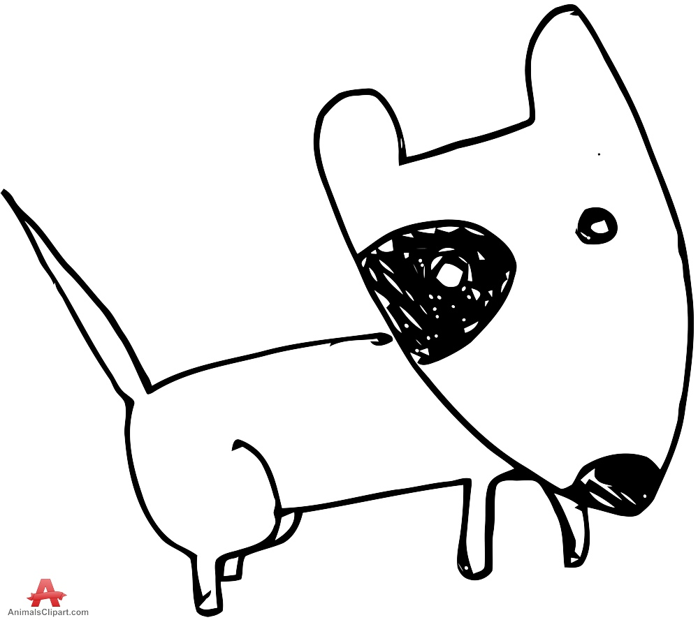 999x888 Child Doodle Drawing Of Dog Free Clipart Design Download
