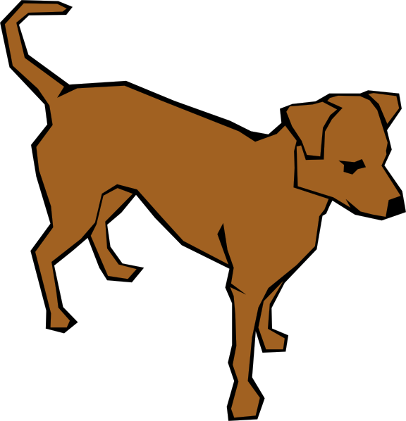 576x598 Dog 06 Drawn With Straight Lines Clip Art