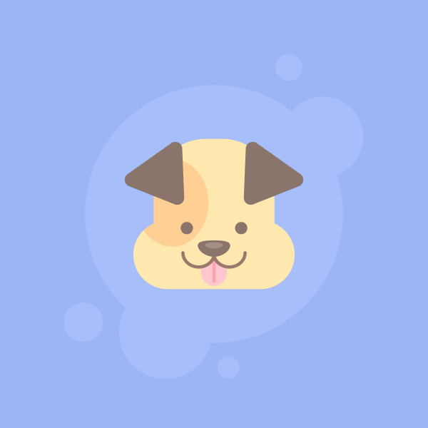 600x600 How To Draw A Cute Dog Icon In 10 Easy Steps