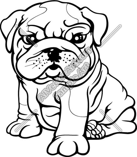 438x500 Best Bulldog Clipart Ideas Puppy Clipart, Cute