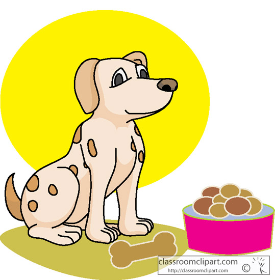 539x550 Dog Feeding Clipart