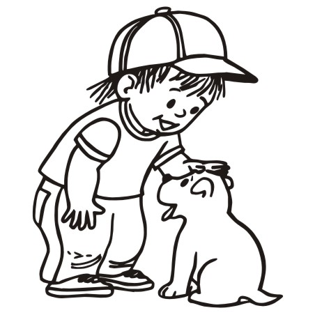 452x452 Pet Clipart Boy Dog