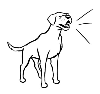 408x382 Dog Black And White Barking Dog Clipart Free Download Clip Art