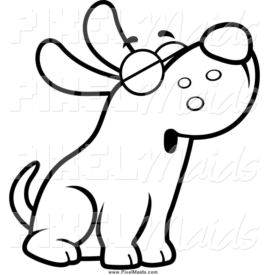 1024x1044 Free Black White Dog Clipart