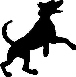 297x300 Jumping Dog Clip Art