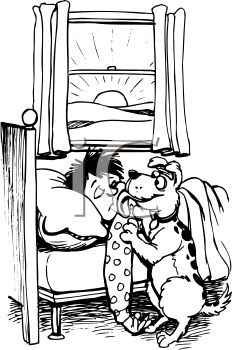 232x350 Black And White Cartoon Of A Dog Licking A Boy In The Face
