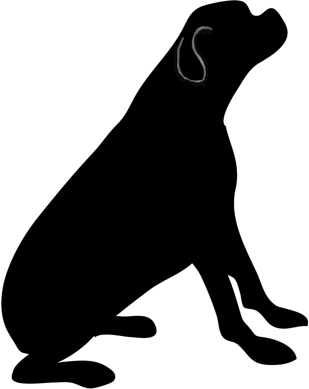1000x1260 Dog Silhouette Clip Art Black And White