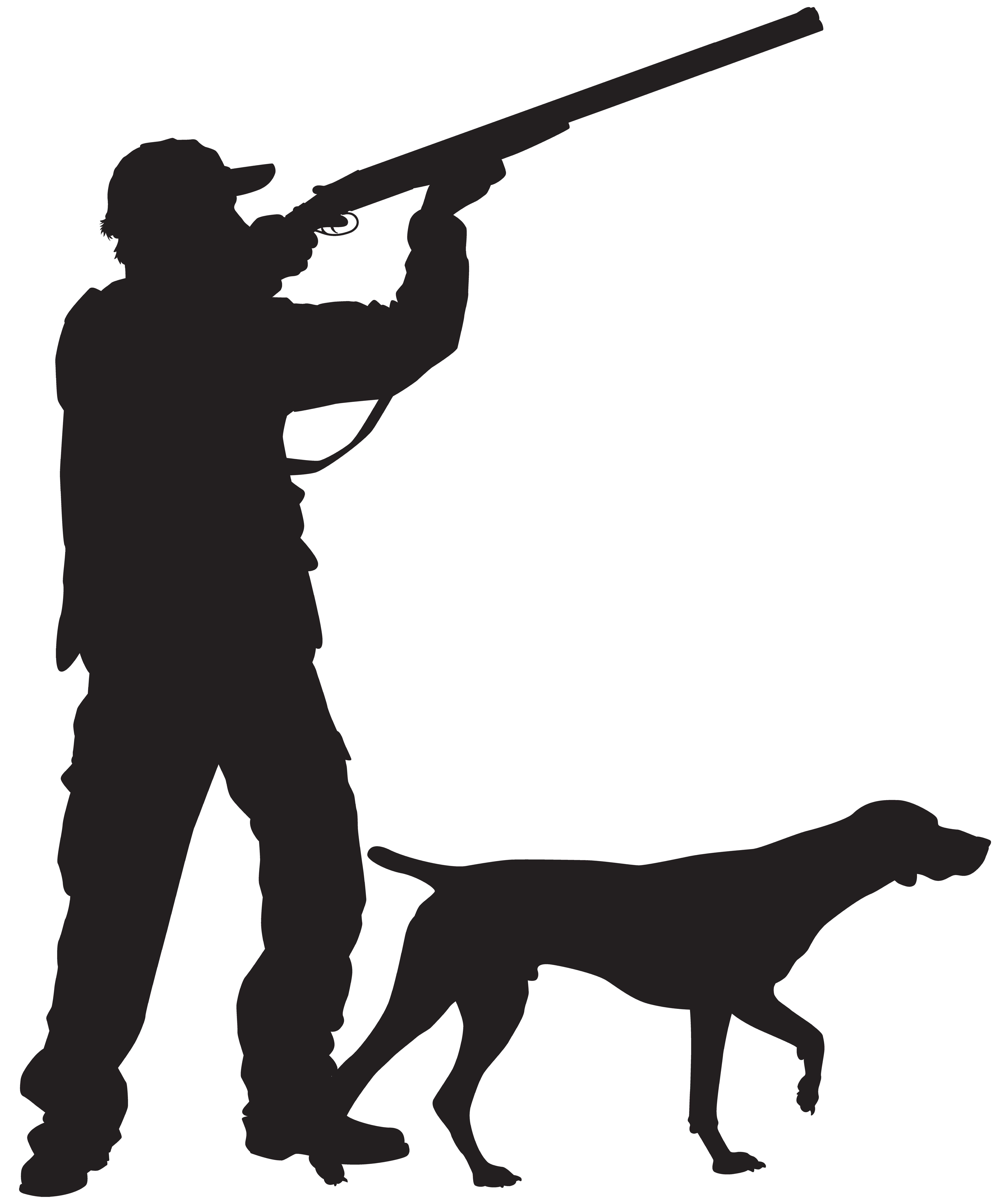 6660x8000 Hunter With Dog Silhouette Png Clip Art Imageu200b Gallery