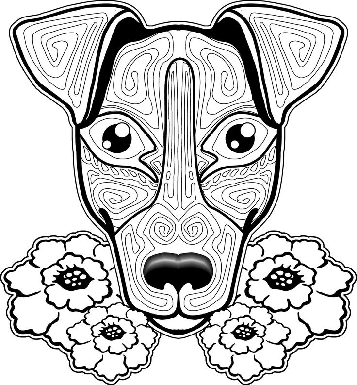image relating to Dog Coloring Pages Printable referred to as Doggy Coloring Web pages No cost obtain least complicated Canine Coloring Webpages