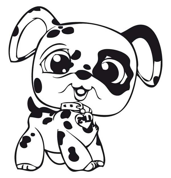 600x623 little pet shop baby dalmatian dog coloring pages batch coloring - Pictures Of Dogs To Color