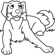 236x236 Simple Animal Coloring Pages Simple Dog Coloring Page Applique