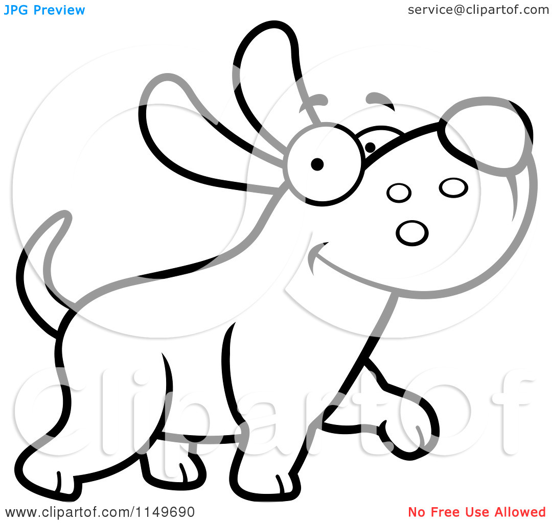 1080x1024 Cute Dog Clip Art Black And White Clipart Panda