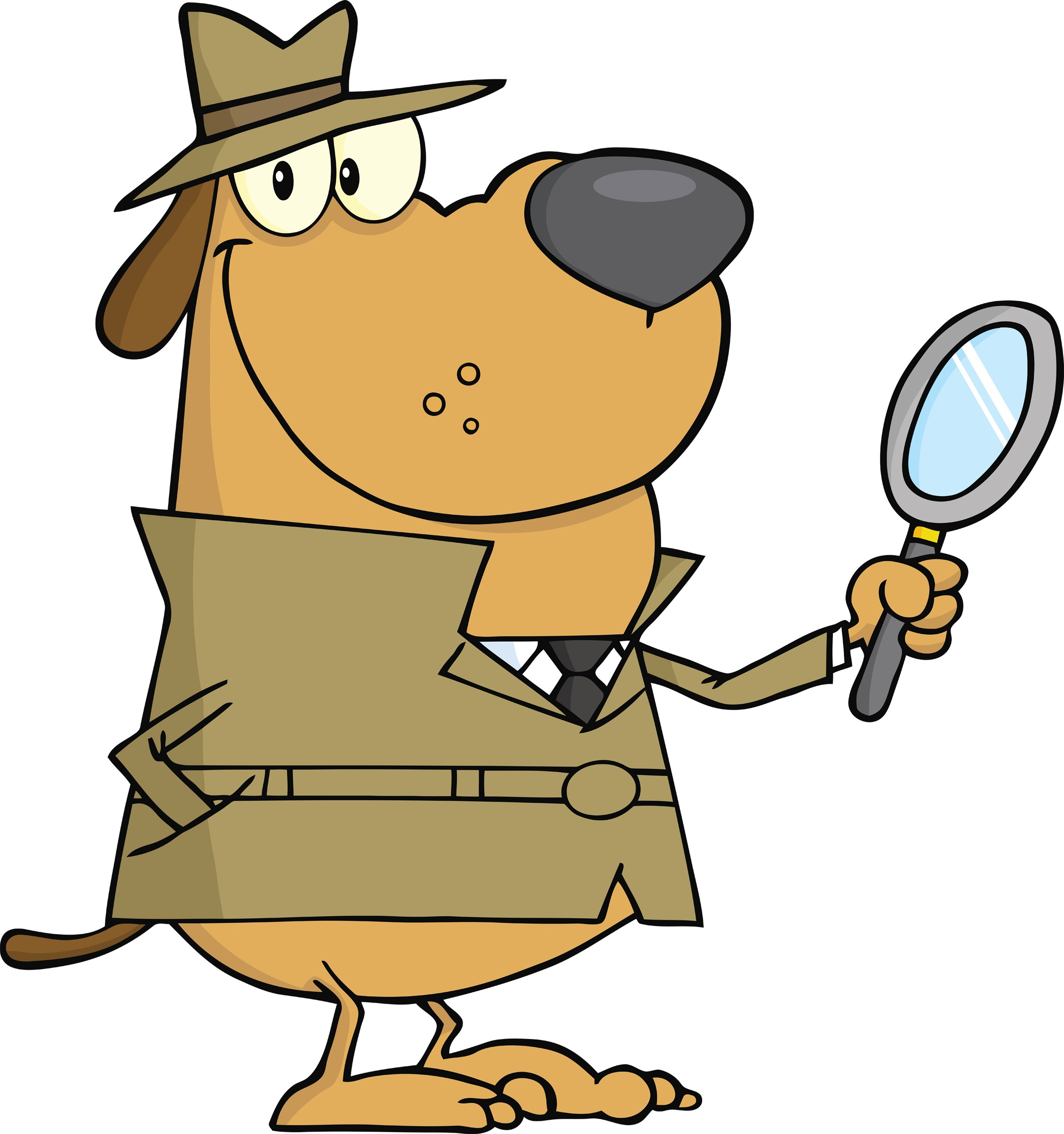 2252x2400 Mystery Dog Detective Clipart