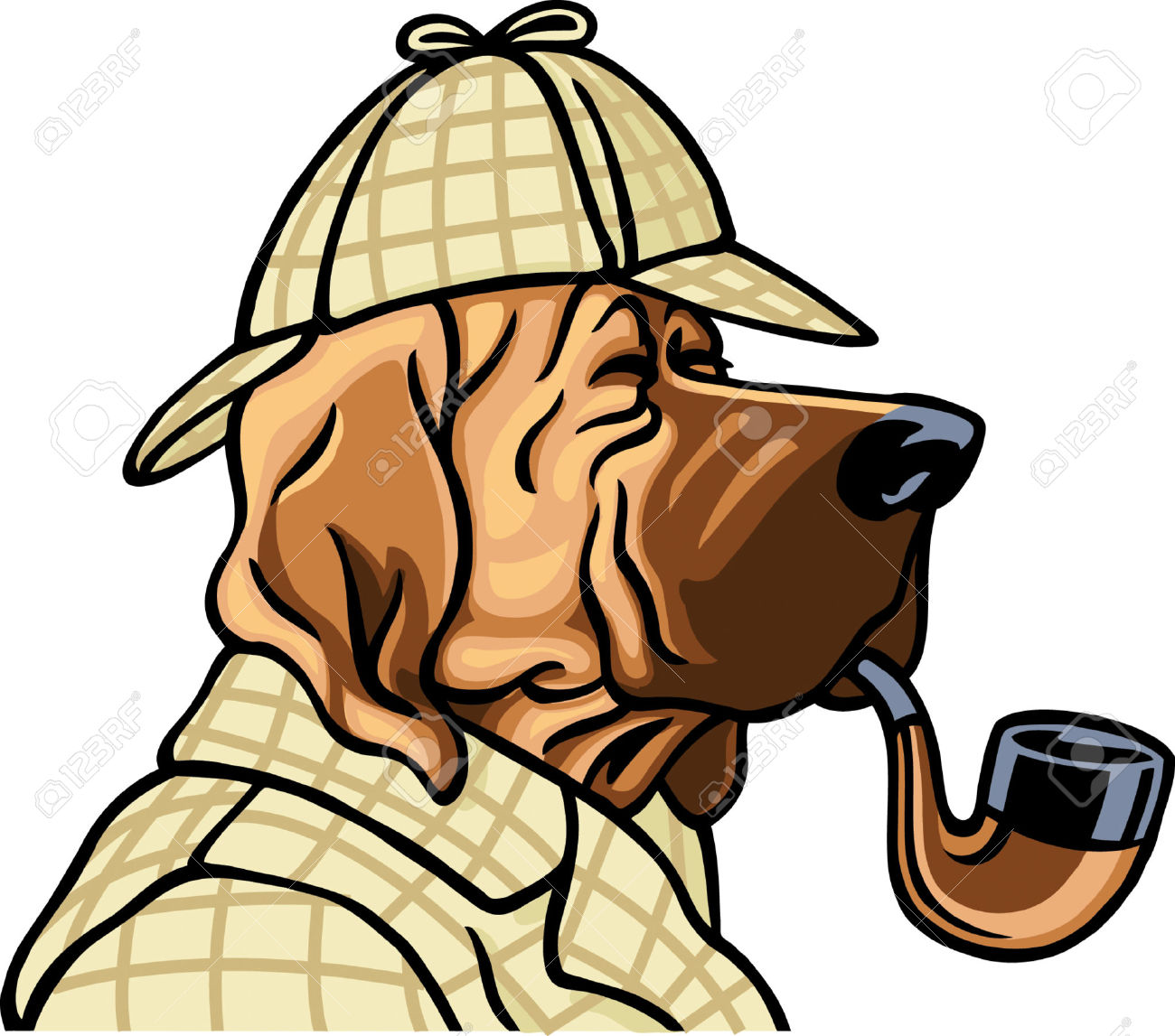 1300x1147 Animal Clipart Detective