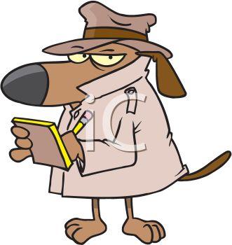331x350 Cartoon Dog Private Investigator