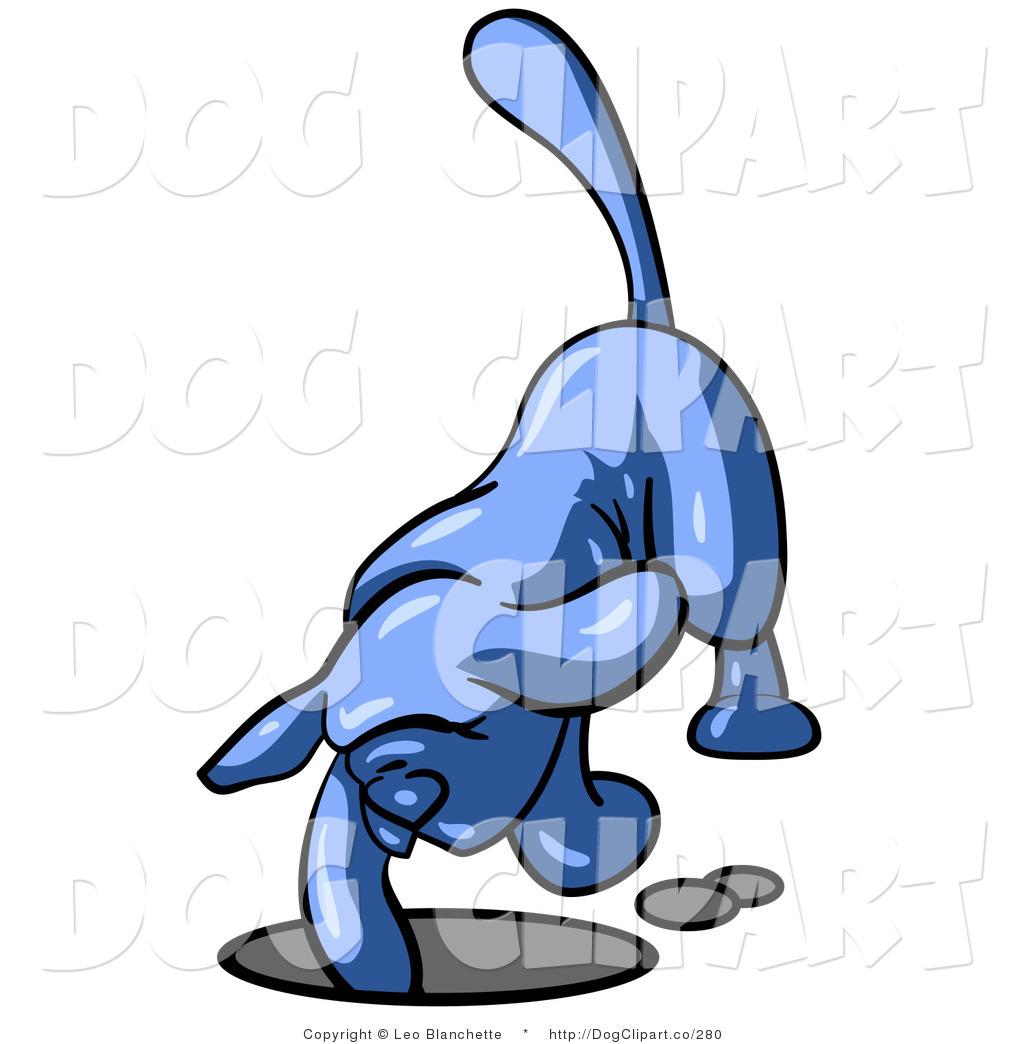 1024x1044 Vector Clip Art Of A Blue Tick Hound Dog Digging A Hole Deep