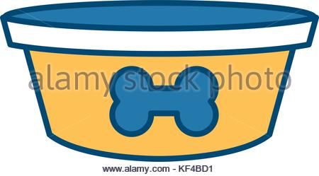 450x249 Dog Bowl For Food Icon Flat, Cartoon Style. Isolated On White