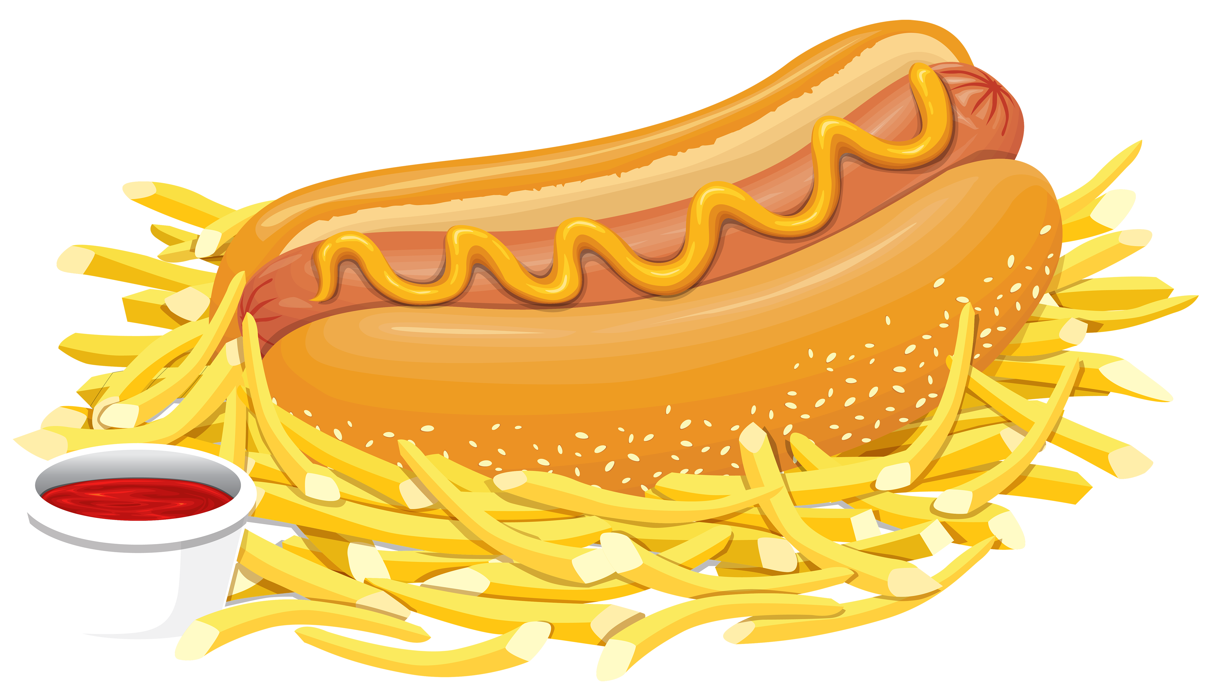 4000x2286 Hot Dog With Ketchup Png Clipart