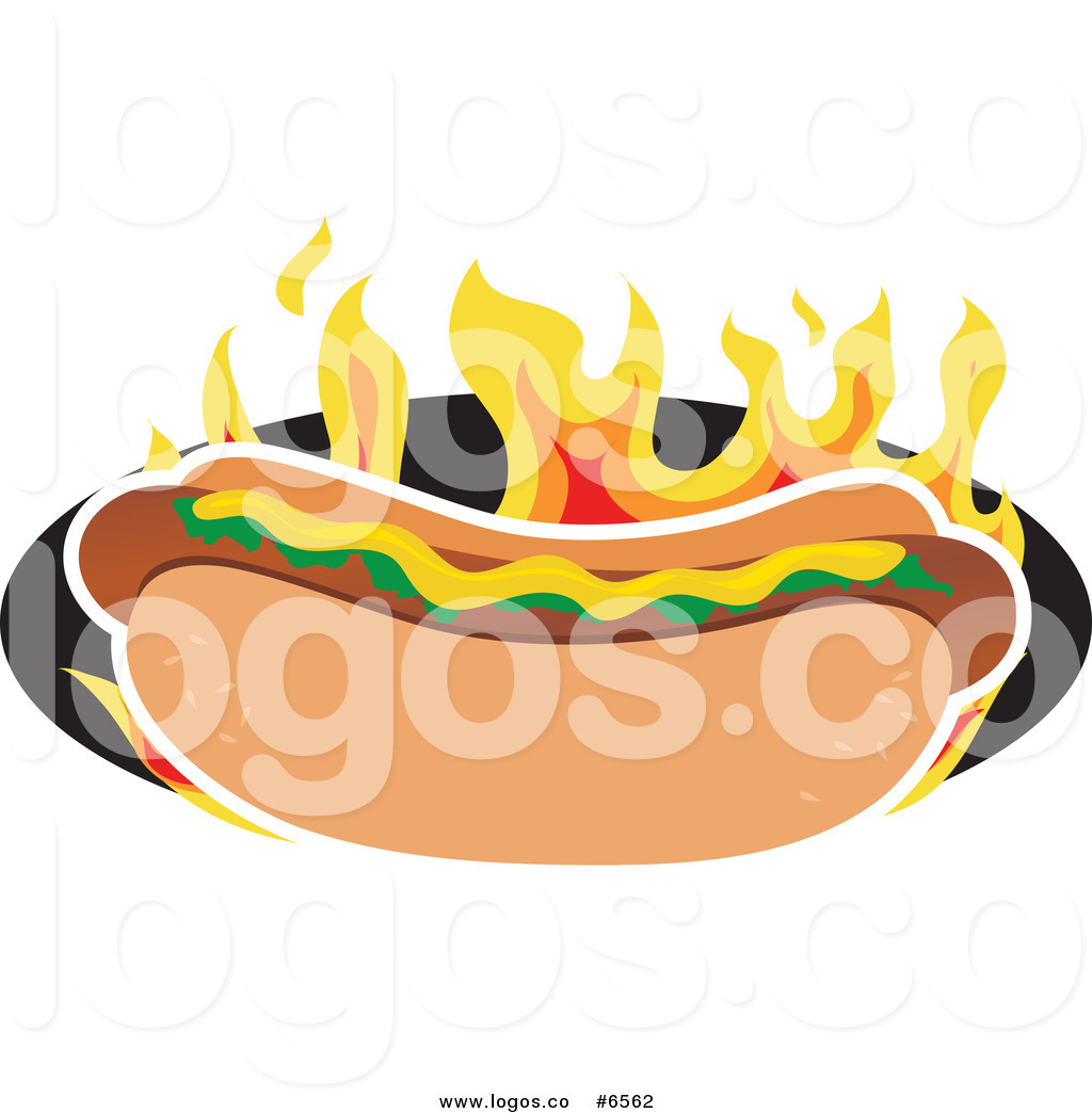 1024x1044 Royalty Free Clipart Flaming Hot Dog Logo By Maria Bell