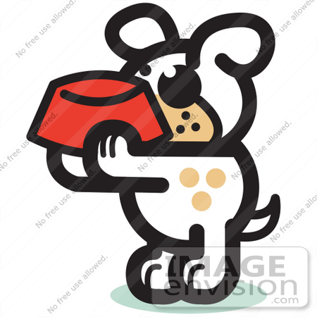 450x450 Royalty Free Cartoon Clip Art Of A Hungry Dog Holding A Red Dog