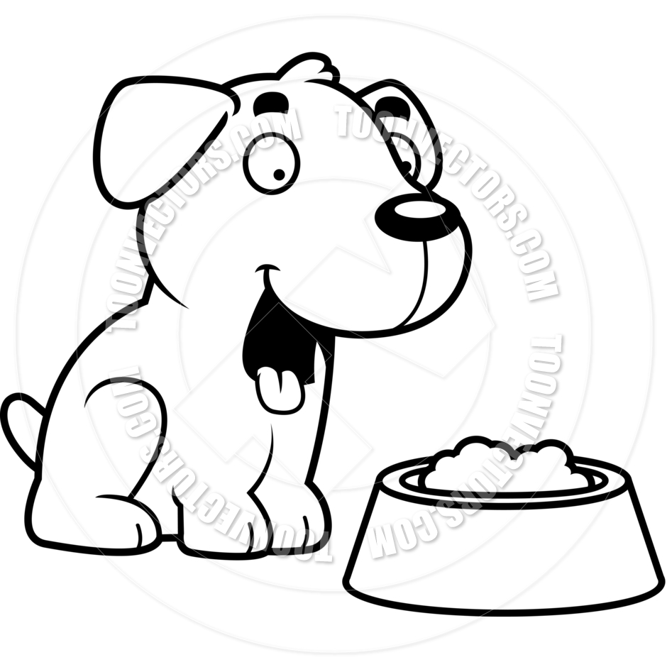 Dog Eating Clipart | Free download on ClipArtMag