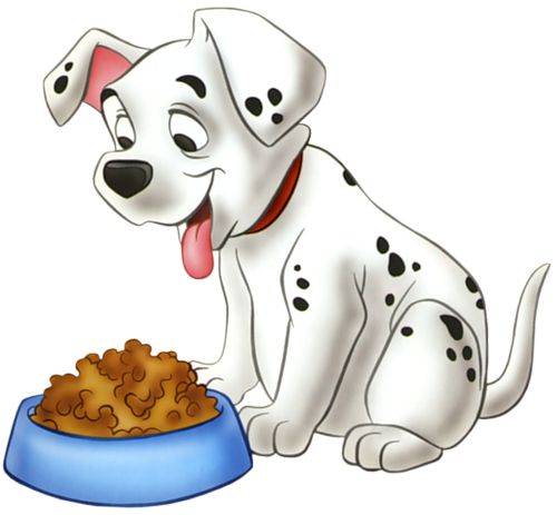 Dog Eating Homework Clipart