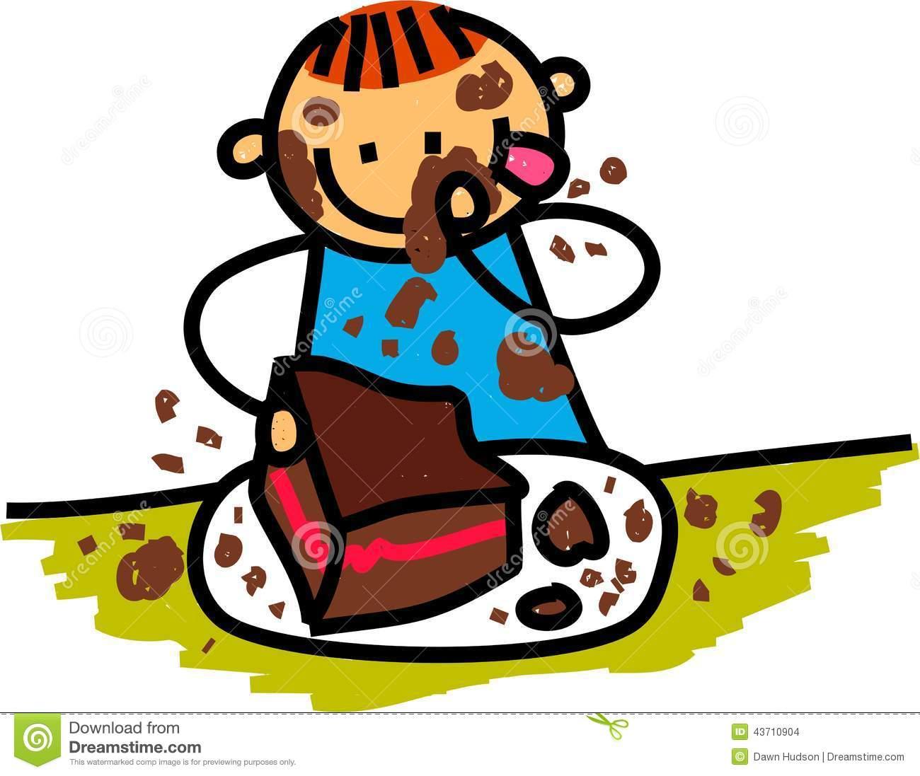 1300x1097 Girl Eating Cake Clipart
