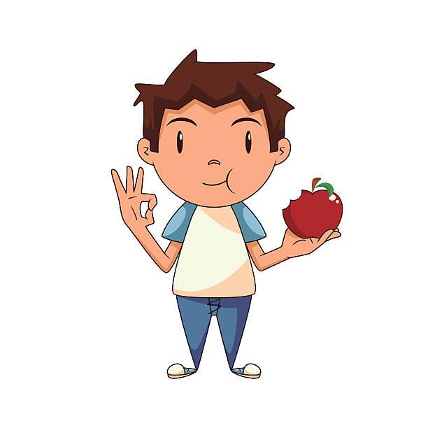 612x612 Boy Eating Apple Clipart