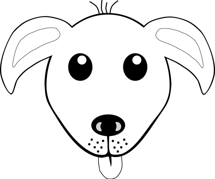 Dog Face Clipart Black And White Free Download Best Dog Face