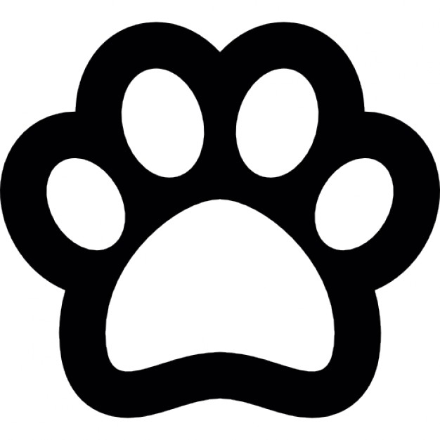 626x626 Dog Footprint Outline Icons Free Download