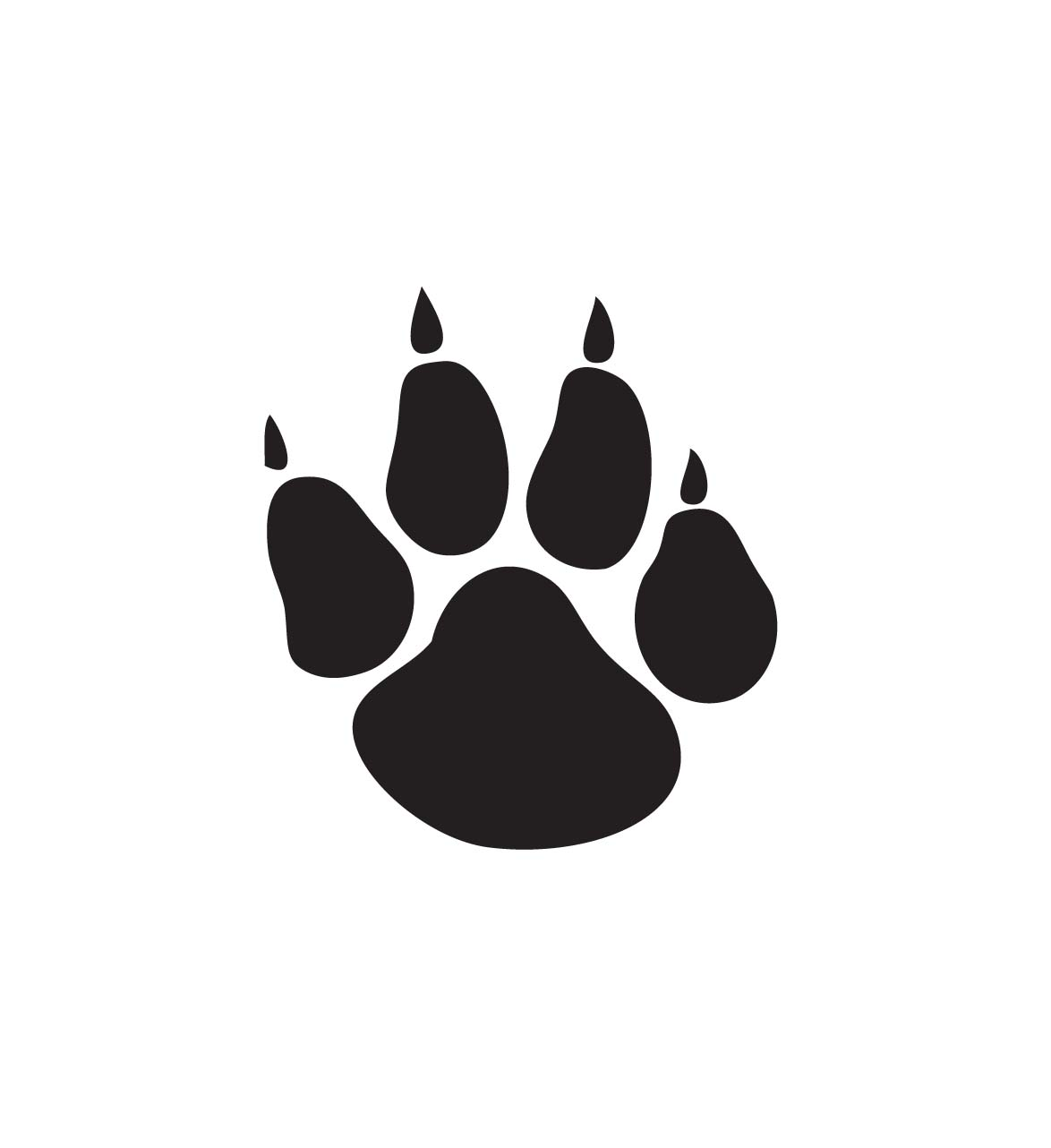 1174x1282 Dog Paw Gallery For Cougar Paw Print Clip Art Free Image