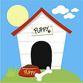 170x170 Clipart Of Cute Dog House K14296725