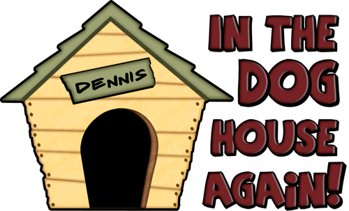 500x303 Dennis Name Dog House Clipart