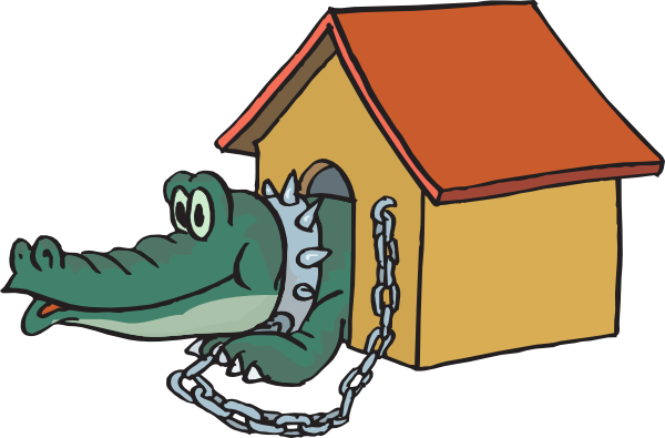 600x395 Alligator In Doghouse Clip Art