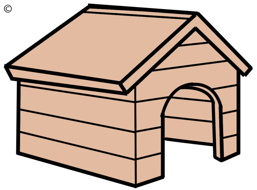 830x615 Dog House Clipart