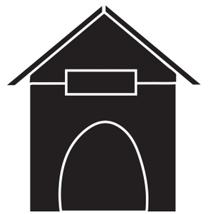 292x300 Dog House Clipart Image