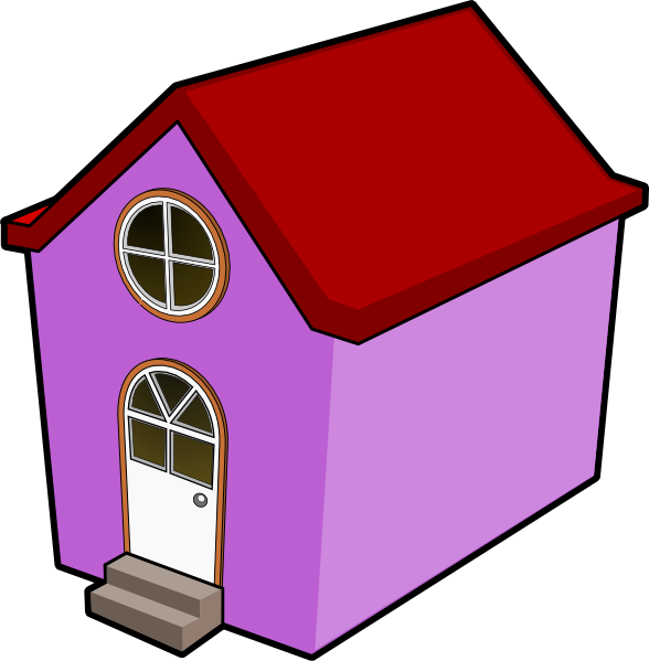 588x599 Bigredsmile A Little Purple House Clip Art