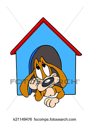 347x470 Stock Illustration Of In The Dog House K21149476