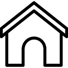 236x236 In A Dog House Clipart Black And White