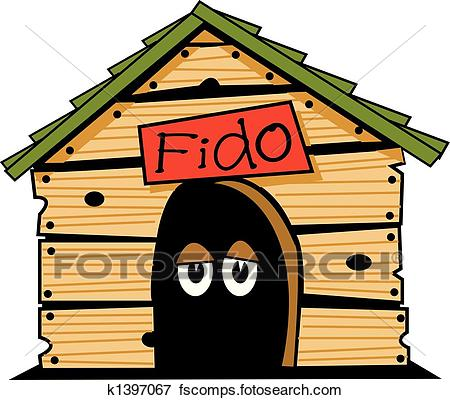 450x400 Clip Art Of Dog House Clip Art Graphic K1397067