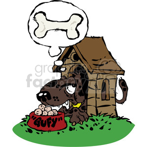 Dog In Doghouse Clipart