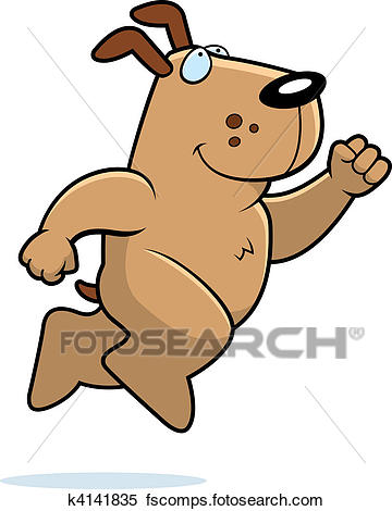 360x470 Clipart Of Dog Jumping K4141835