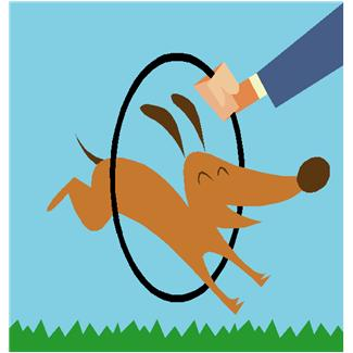 325x325 Real Dog Jumping Clipart