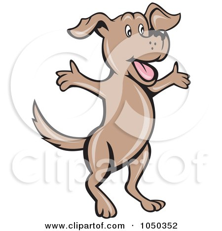 450x470 Royalty Free (Rf) Clip Art Illustration Of A Dog Jumping By
