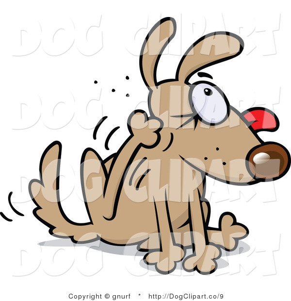 600x620 Clip Art Of A Dog Scratching His Ear By Gnurf