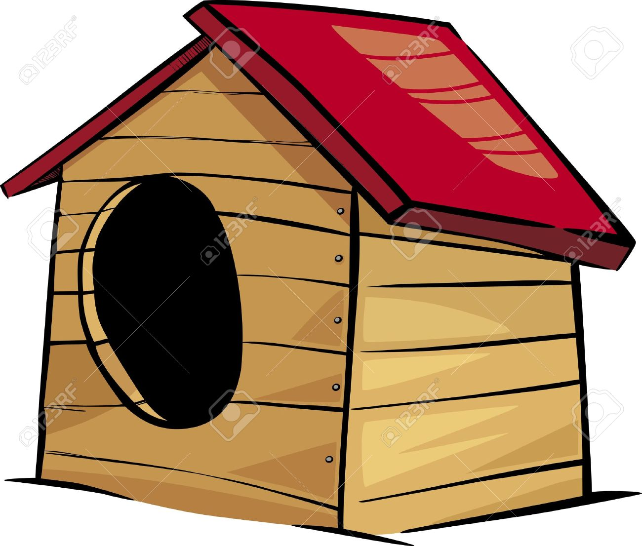 1300x1106 Cartoon Illustration Of Doghouse Or Kennel Clip Art Royalty Free