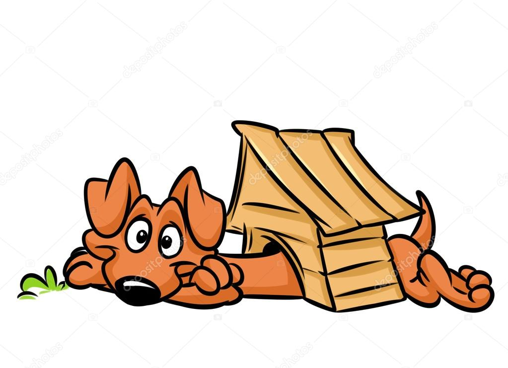 1023x741 Dog Kennel Dachshund Long Cartoon Stock Photo Efengai